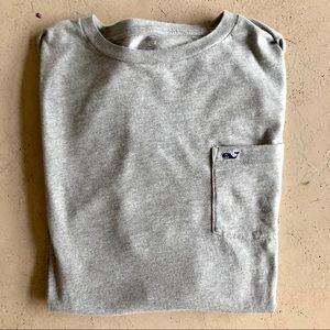 EUC. Vineyard vines grey long sleeve T-shirt